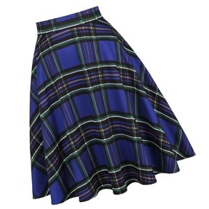 Dresses & Skirts - Pin Up HP Plaid Tartan Flared Swing Skirt